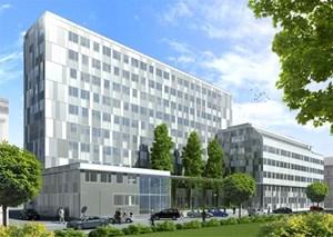 """21.500 m² Bruttogeschoßfläche hat die runderneuerte """"Silbermöwe""""."""