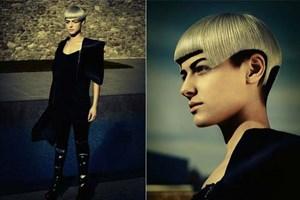 """Aichbauers Fotos in der Kategorie """"Damen Süd"""", die ihr den Titel """"Hairdresser of the Year"""" einbrachten."""