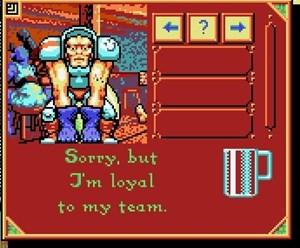 In der Taverne können Gegner bestochen werden.