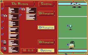 Auf diesem Bildschirm werden taktische Ausrichtung und Aufstellung festgelegt.