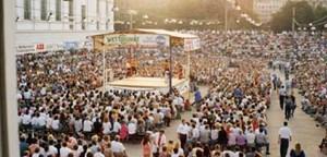 Bis zu 5500 Fans kamen einst zu den Catch-Events am Wiener Heumarkt. Mitveranstalter Otto Wanz holte viele Topstars.