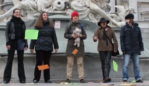 Ein lautes Nein: Gegen die gemeinsame Obsorge durch Gerichtsurteil gegen den Willen eines Elternteils.