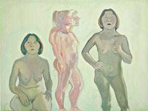 """Das """"Dreifache Selbstporträt"""" hat die große österreichische Künstlerin Maria Lassnig in den Jahren 1970 bis 1972 gemalt."""