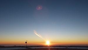 Sonnenuntergang: Für Astronomen beginnt ein neuer Arbeitstag.