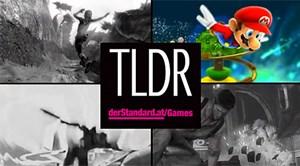 Das Intro-Bild zu TLDR. Erkennen Sie alle abgebildeten Videospielhelden? Tipp: Rechts oben ist Super Mario ;)