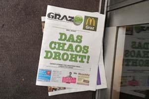 """Die Bürgerlichen bestücken jeden Grazer Haushalt mit einer Warnung vor dem """"Chaos"""""""