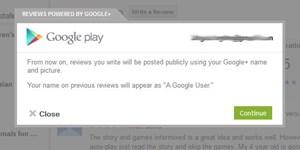 Google-Play-Rezensionen werden nun mit dem Google+-Profil verfasst.