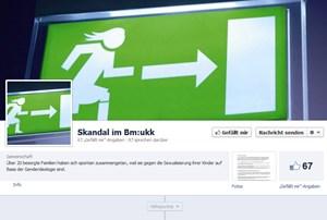 """Eltern empören sich auf Facebook. Am Dienstag hatte die Seite 67 """"Likes""""."""