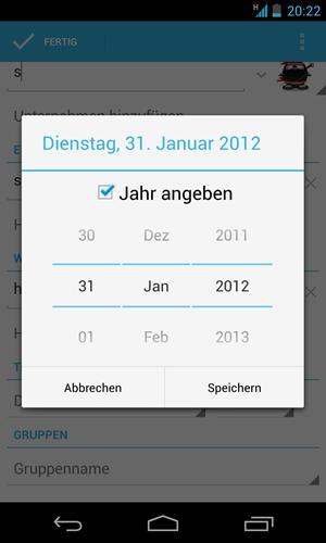 Seit kurzem gibt es auch bereits ein Update auf Android 4.2.1, mit dem in der People-App wieder der Monat Dezember verfügbar ist.