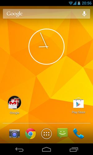 Der Default-Home-Screen von Android 4.2 auf dem Nexus 4.