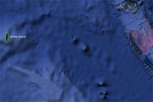 Die Insel war im Internetatlas Google Earth im Korallenmeer auf halber Strecke zwischen Australien und dem französischen Überseegebiet von Neukaledonien als Sandy Island verzeichnet worden