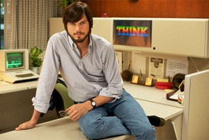 Ashton Kutcher als Steve Jobs.