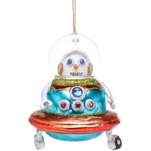 Bulldoggen Und Roboter Am Weihnachtsbaum Weihnachten