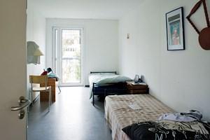 Zwei Schlafplätze sind in jedem Wohncontainer untergebracht.