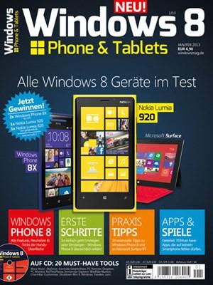 """Nochmehr Infos zu Windows Phone 8 sowie weitere Smartphone-, Tablet- und App-Testsfinden Sie im Printmagazin """"Windows Phone & Tablets"""", das am 13. Dezember2012 erstmals erscheint. Auf www.windowsmag.de finden Sie weitere Detailszum Heft."""