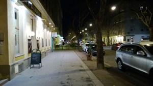 Mitder lichtstarken Optik lässt sich auch mit Straßenbeleuchtung ein sehr gutesErgebnis erzielen.