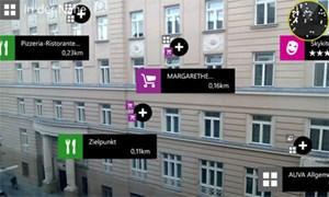 """Der """"Nokia City-Kompass"""" ist eine Augmentend Reality-App mit Städteführer-Avancen. Funktioniert in Summe gut, Apps wie Wikitude können so etwas aber schon lange."""