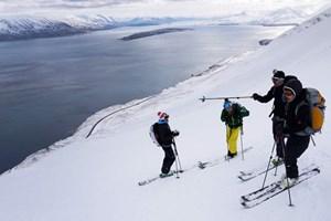 """""""We guide you off the Beaten Tracks"""", versprechen Matthias Knaus und Christof Schett. Der Bergführer und der Trainer von """"Risk 'n' Fun"""", einem Lawinensicherheitstrainingsprogramm des Alpenvereins, erkannten, dass im Zuge der modularen Ausbildung eine Community entstand, die weiterhin gemeinsam unterwegs sein wollte. Also gründeten sie Yellowtravel. Heute stehen die Reiseangebote allen - zumindest geübten - Backcountry-Fahrern offen. Zusätzlich zu Trips nach Island oder Norwegen werden auch Ski-Reisen unter anderem in die Abruzzen, in die Hohe Tatra oder nach Marokko organisiert.-> Hier gibt's eine Ansichtssache."""
