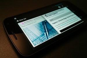 Mobile Browser werden derzeit mit rasanter Geschwindigkeit vorangetrieben, im Bild Googles Chrome für Android.