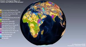 Die neue Karte der Erdkruste setzt sich aus 16 übergeordneten Gesteinsklassen und zahlreichen Unterklassen zusammen, die in mehr als 400 Kombinationen auftreten können.