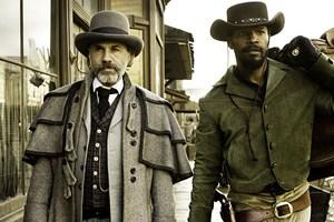 "Könnte an ""Inglourious Basterds""-Erfolge anschließen: Christoph Waltz - neben Jamie Foxx - in Tarantinos ""Django Unchained""."