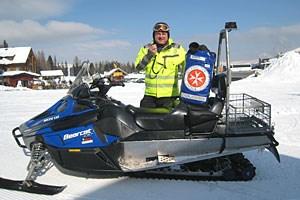 Bernhard Huber übernimmt als Pistenretter auf der Turracher Höhe die Erstversorgung verunfallter Wintersportler.