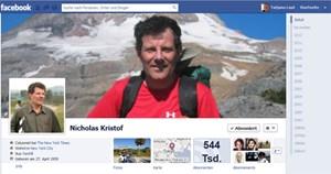 """Einer der erfolgreichsten Selbstvermarkter auf Facebook: """"New York Times""""-Redakteur Nicholas Kristof."""