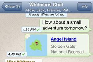 WhatsApp ist kostenlos im AppStore verfügbar