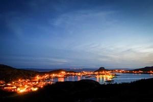 Nachts auf Fogo Island.Allgemeine Info: Neufundland und Labrador TourismusShorefast Foundation