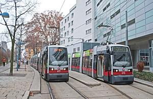 Die Züge der Linien 25 drehten am Freitag eine Proberunde in Floridsdorf.
