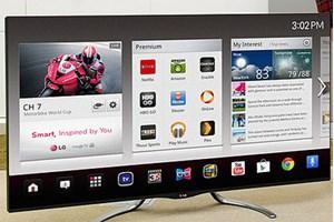 Einer der kommenden LG-Fernseher mit Google TV.