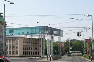 Eine nicht realisierbare Vision: Studie für eine Erweiterung des Wien Museums am Karlsplatz vom Team Henke Schreieck.