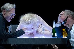 Silvester-Trio im Burgtheater: Joachim Meyerhoff, Sunnyi Melles und Peter Simonischek (v. li.).