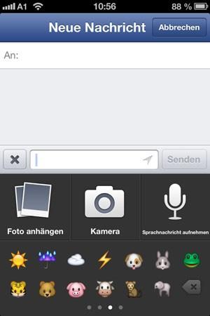 Text, Fotos, Smileys und nun auch Sprachnachrichten - die Funktionen des Facebook-Messengers werden ausgebaut.