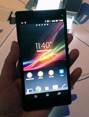 Sony mischt am Markt für Riesen-Smartphones mit, das Xperia Z besitzt einen 5 Zoll großen Bildschirm.