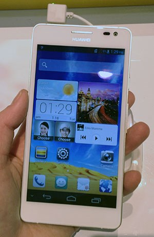 Beim Ascend D2 setzt Huawei auf ein kleineres, aber besseres Display.