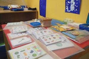 Guldan setzt auf Montessori-Materialien.