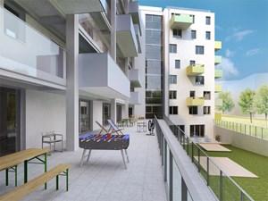 """Bitte hier ein Fenster und hier einen Balkon! Die künftigen Mieter des Wohnhauses """"sovieso"""" haben ihre Wohnung in Absprache mit den Architekten innen und außen mitplanen können."""