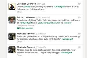 Auch in den vergangenen 24 Stunden erfreute sich der Hashtag #unbonjuif noch großer Beliebtheit.