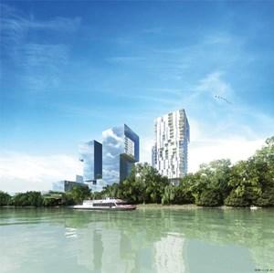 Vier neue Gebäude sind vorgesehen, drei davon sollen als Hochhäuser mit mehr als hundert Meter Höhe ausgeführt werden.