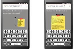 Canonicals Mock-up für die Terminal-App.