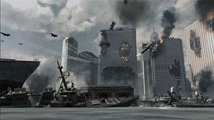 "Das brennende New York wurde dem Shooter ""Call of Duty: Modern Warfare 3"" entnommen."