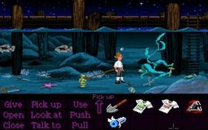 Eine von zwei Szenen des gesamten Spiels, in denen Guybrush sterben kann.