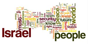 Obamas Rede in Jerusalem als Wordle