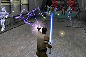 "Screenshot aus ""Jedi Knight 2: Jedi Outcast"""