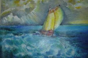 In Haft hat Ameziane begonnen zu malen. Seit er im Hungerstreik ist, wurden ihm seine Malutensilien abgenommen.