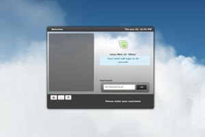 Ein neuer, HTML-basierter Greeter, der auch Animationen per WebGL anzeigen kann.