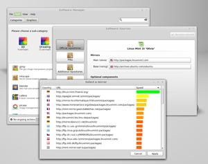 Die neuen Softwarequellen von Linux Mint.