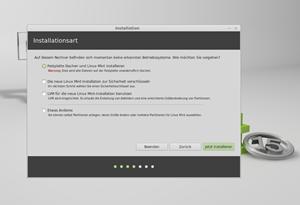 Die Installationsroutine von Linux Mint ist praktisch deckungsgleich mit jener von Ubuntu.