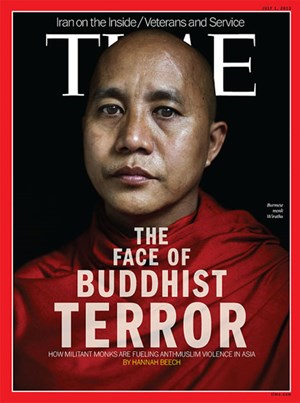 """The Face of Buddhist Terror"": Akutelles Cover des US-Magazins ""Time""."